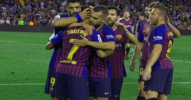 Ligue des champions : FC Barcelone 5 – Lyon 1, Les Blaugranas filent en quart, vidéo