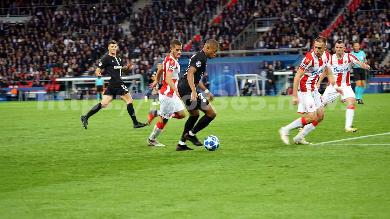 Revivez la victoire du PSG face à l'Etoile Rouge de Belgrade avec les images du match , album1