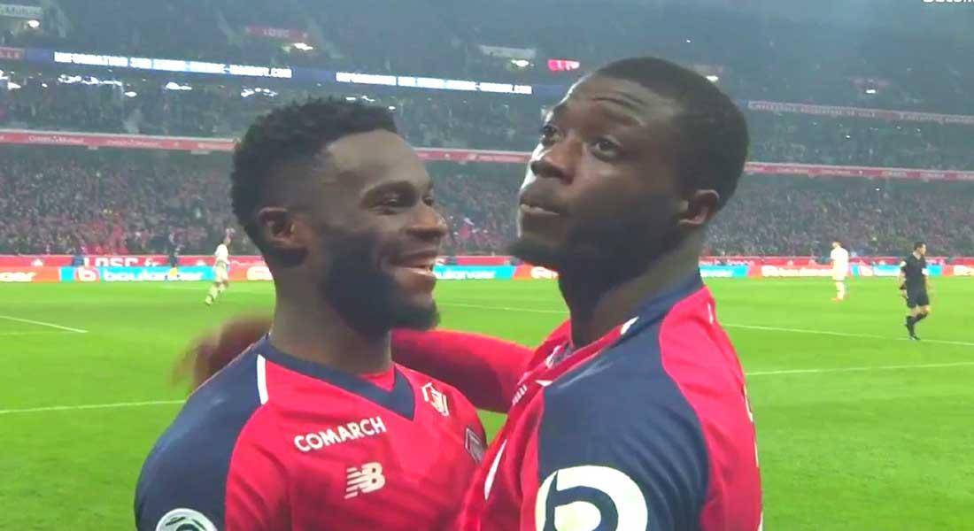 Lille inflige au PSG une sévère défaite sur le score de 5-1 , vidéo