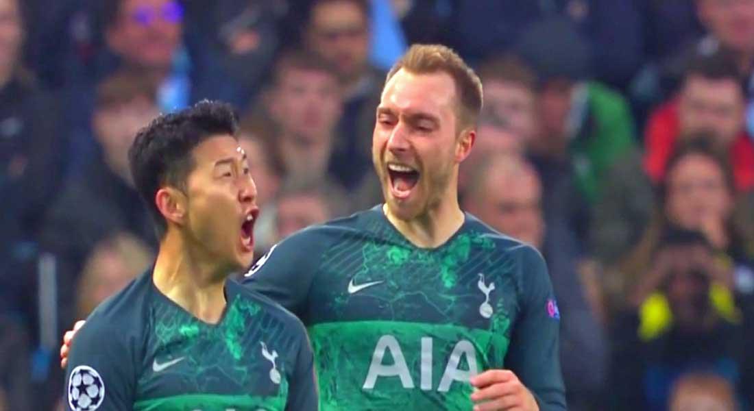C1: Manchester City – Tottenham (4-3) ,  Liverpool bat FC Porto (4-1) , Tottenham et Liverpool en demi, vidéo