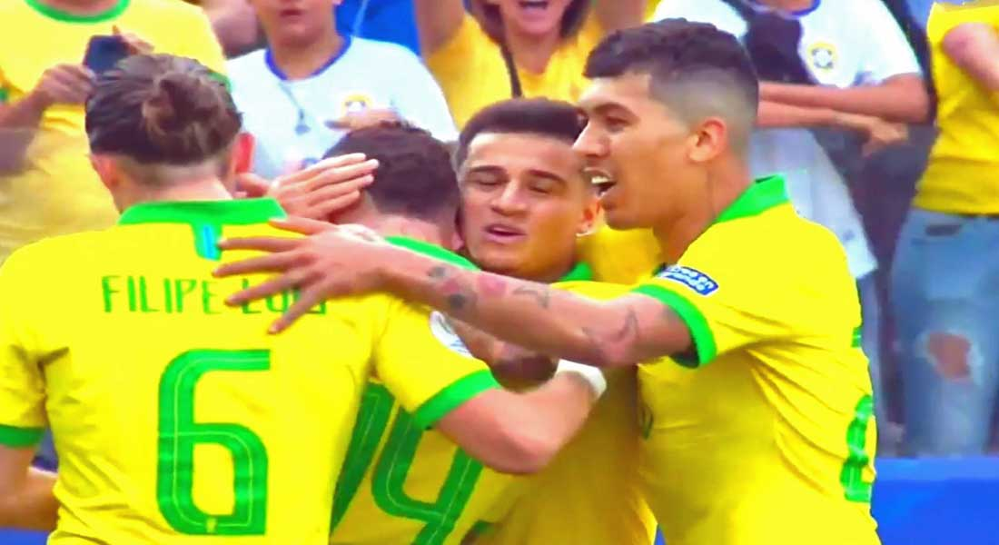 Cope America : Brésil 5 – Pérou 0 , un Brésil séduisant en quart