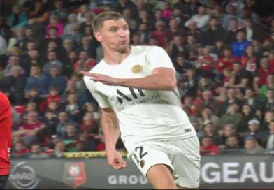 Ligue 1 : Rennes fait tomber le PSG sur le score de 2-1 , vidéo