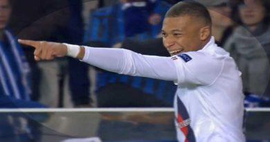 C1 : Paris  bat  Bruges 5-0 avec un triplé de Mbappé et un doublé D'Icardi , vidéo
