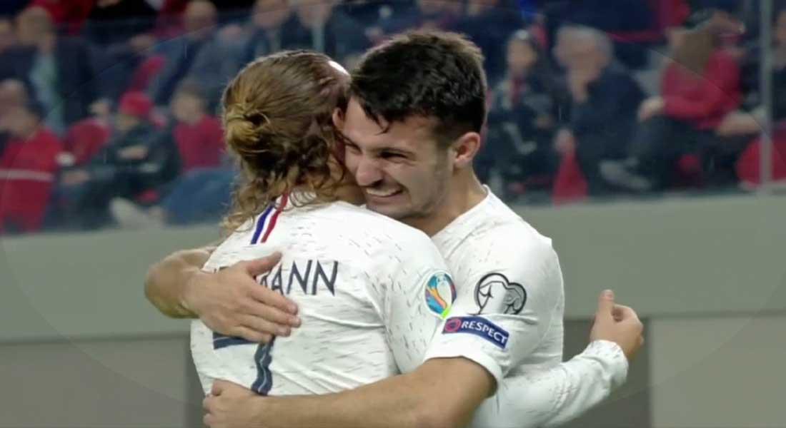 QEuro 2020 : Albanie 0 – France 2, les bleus terminent leader du groupe, vidéo