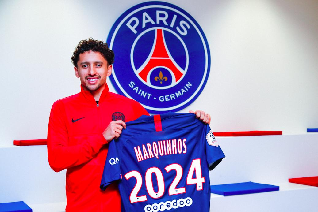 PSG : Marquinhos continuera son aventure avec son club jusqu'en 2024