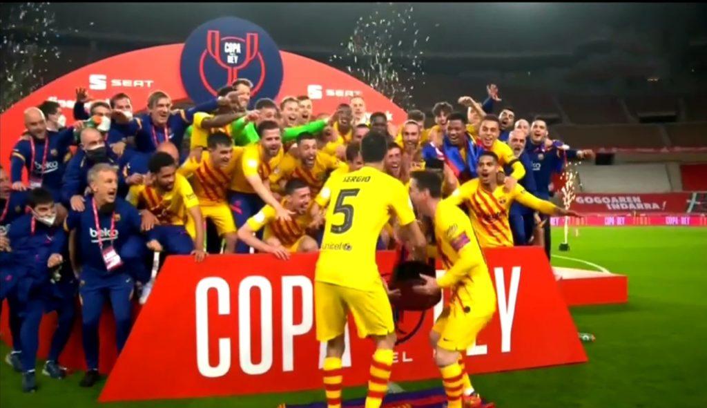 Finale Coupe d'Espagne : FC Barcelone 4 – Athletico Bilbao 0