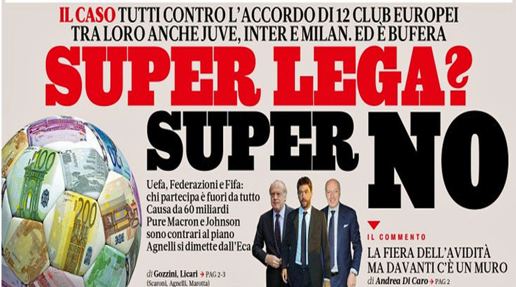 La Super League risque de devenir Super NO